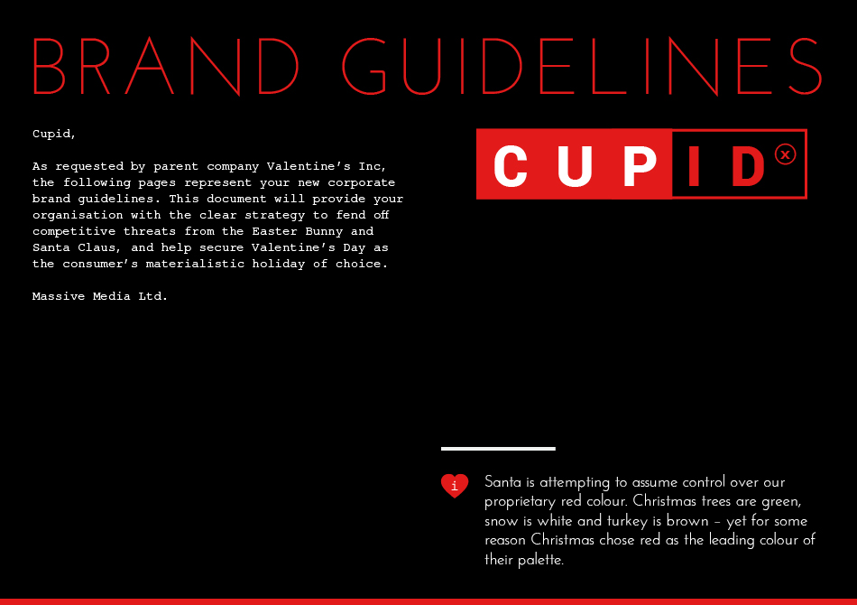 cupid brand book by cayman creative agency