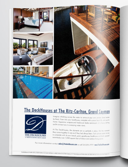 Sales materials created for the luxury Deckhouse development in Grand Cayman