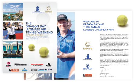 Design services forThe Legends Tennis tournament Grand Cayman