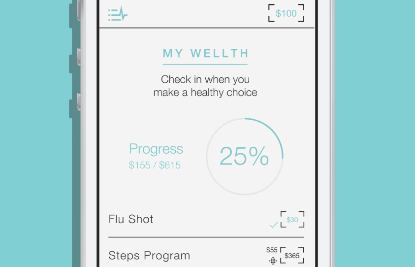 Wellth mobile app design