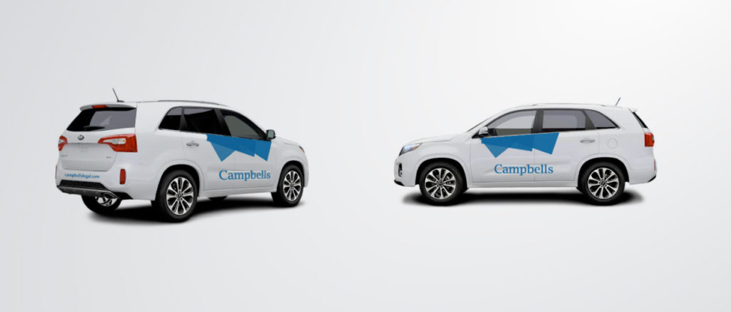 Campbells Rebrand vehicle branding