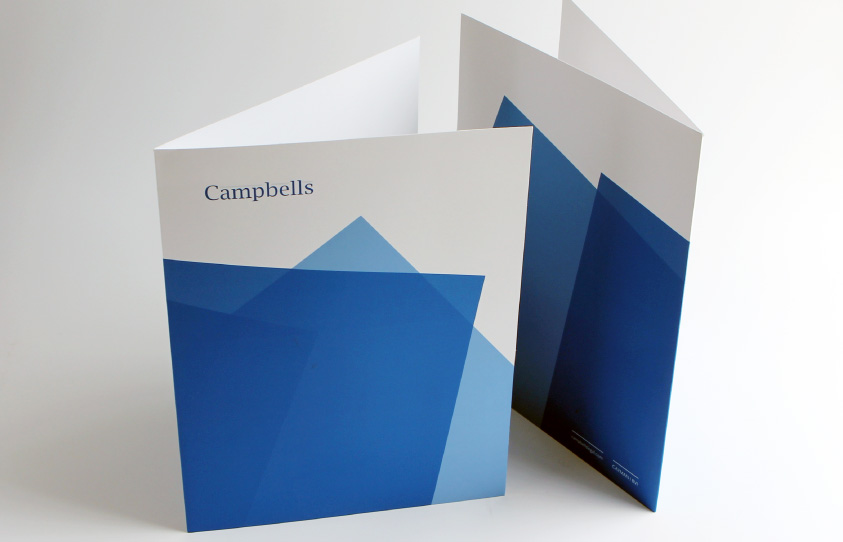 Campbells Rebrand presentation folders