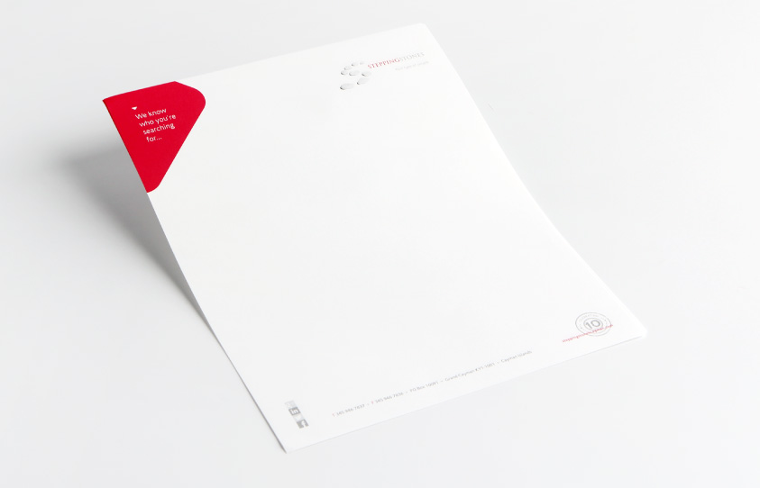 SteppingStones Cayman Islands Rebrand - Corporate identity letterhead