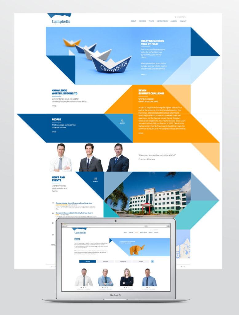 Website design for Campbells Cayman Islands
