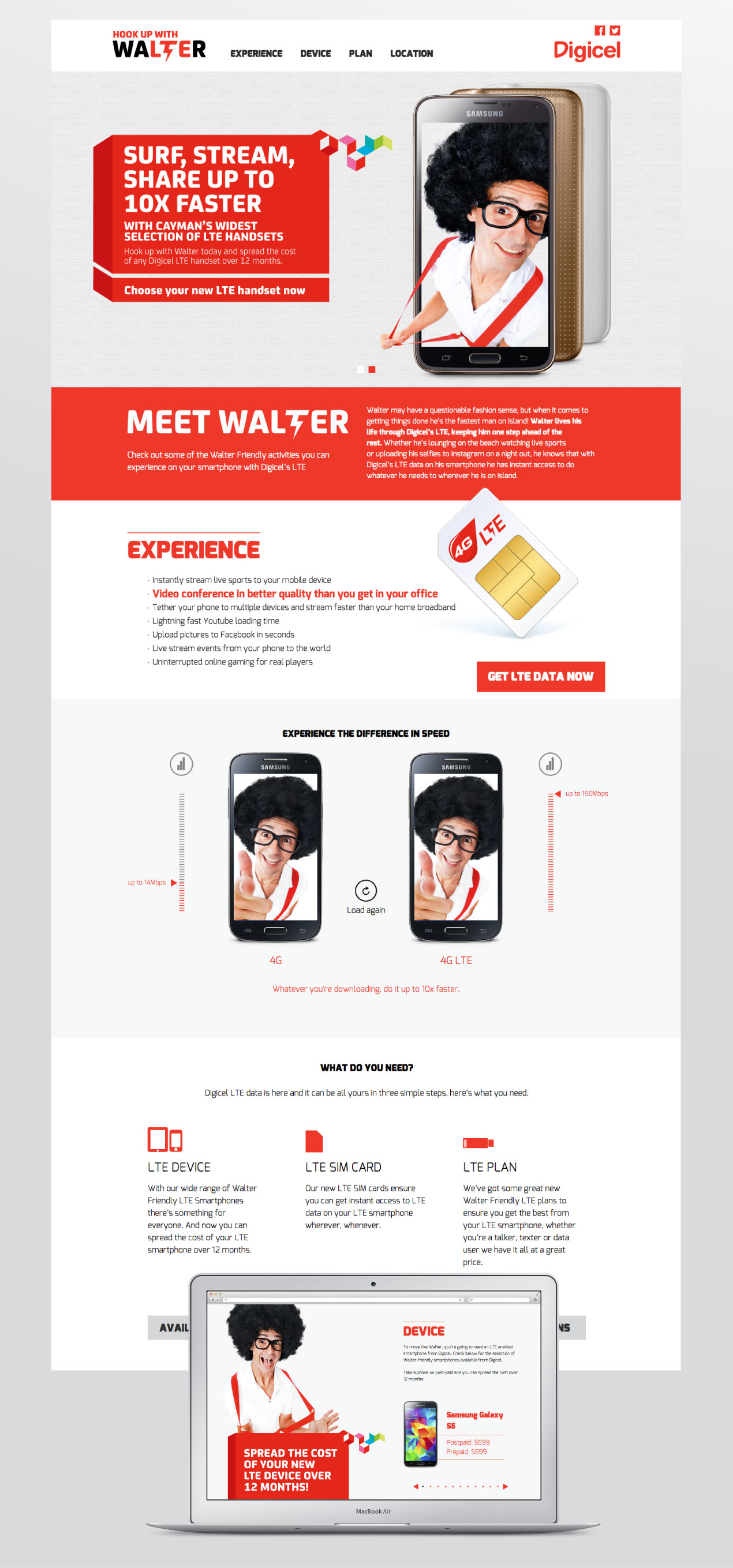 Digicel Cayman Website design