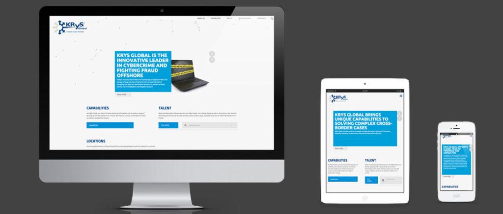 Website design for Krys Global