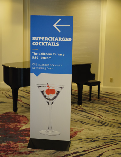Event signage design for Cayman Alternative Investment Summit 2016