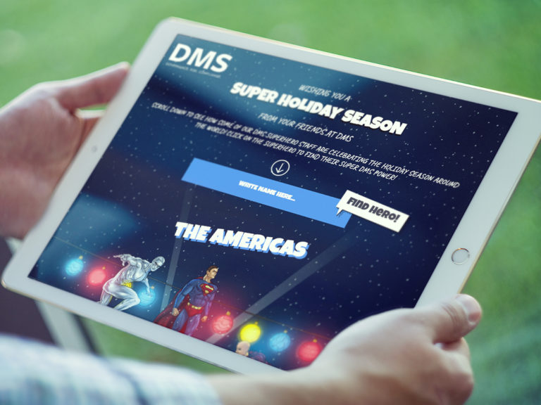 DMS Superheroes - Web Design. Illustrations.