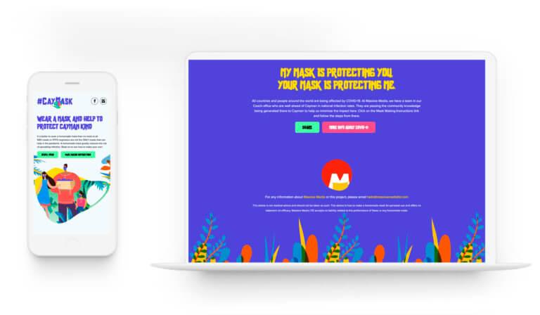 CayMask - Logo Design. Web Design.