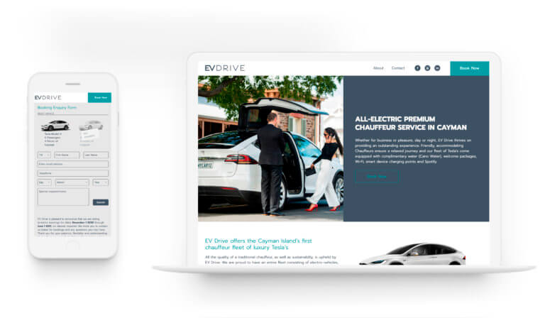 EV Drive - Web Design. Logo Design.